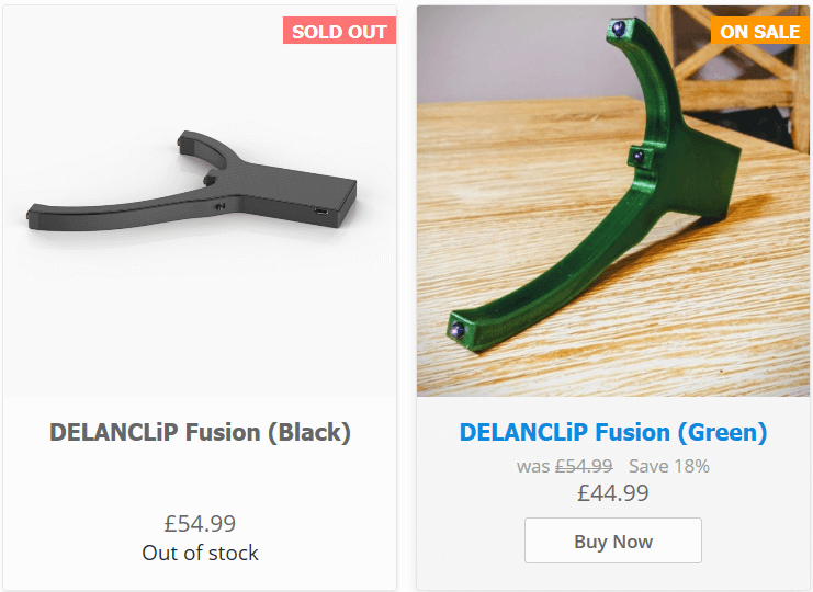 DELANCLiP Fusion (Green) on sale ! quick ! will not last for long !