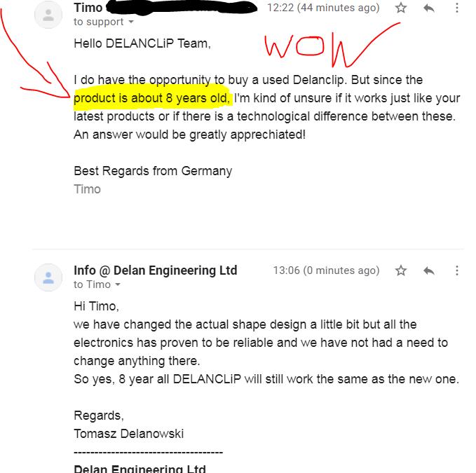 DELANCLiP amazing reliability!